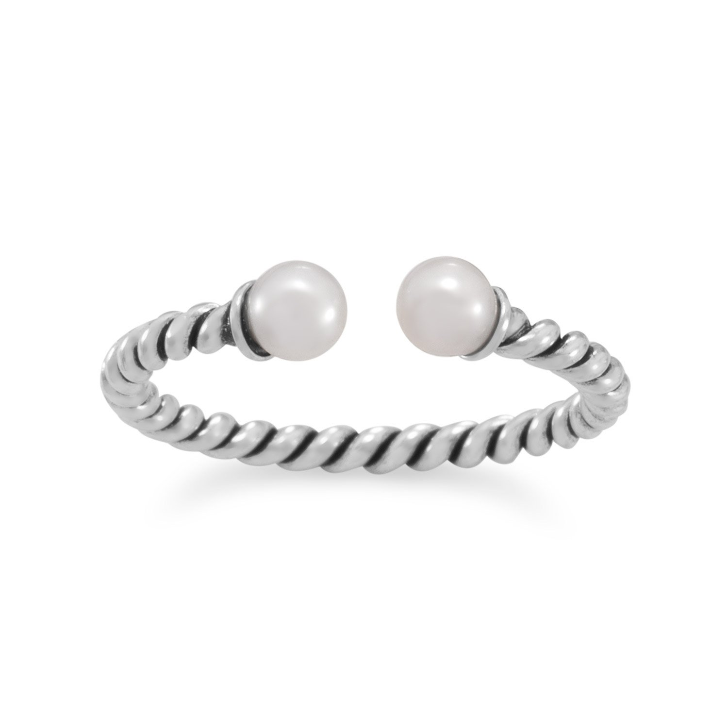 Oxidized Twist Band with Cultured Freshwater Pearl