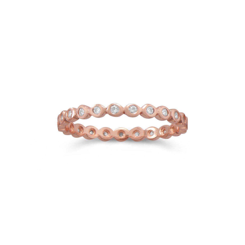 14 Karat Rose Gold Plated Eternity Ring