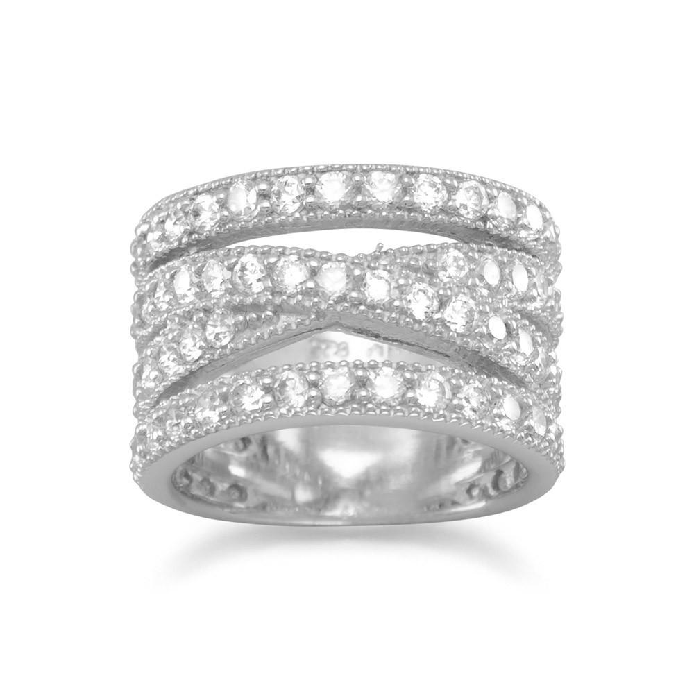 Rhodium Plated CZ Ring