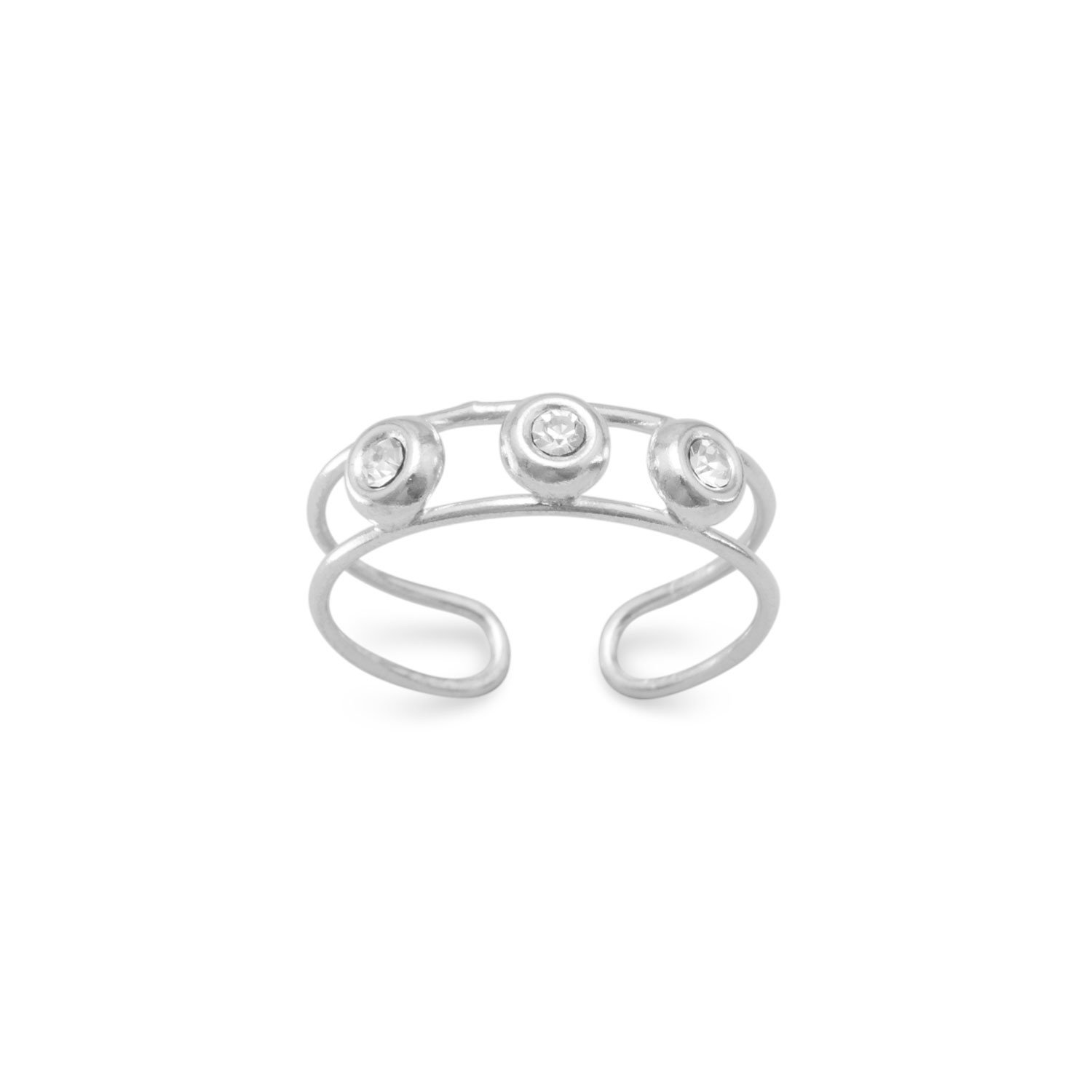 Clear Crystal Toe Ring
