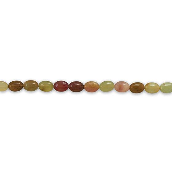 Strand of Dyed Rainbow Agate Beads