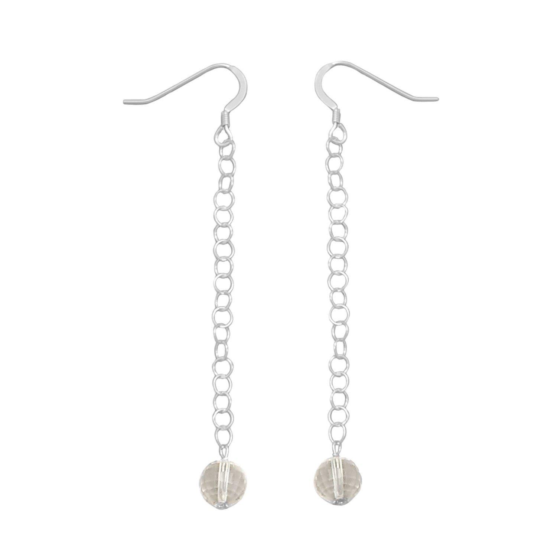Lemon Quartz Chain Drop Earrings