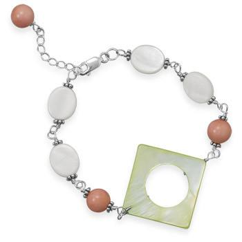 7″+1″ Shell and Coral Bracelet