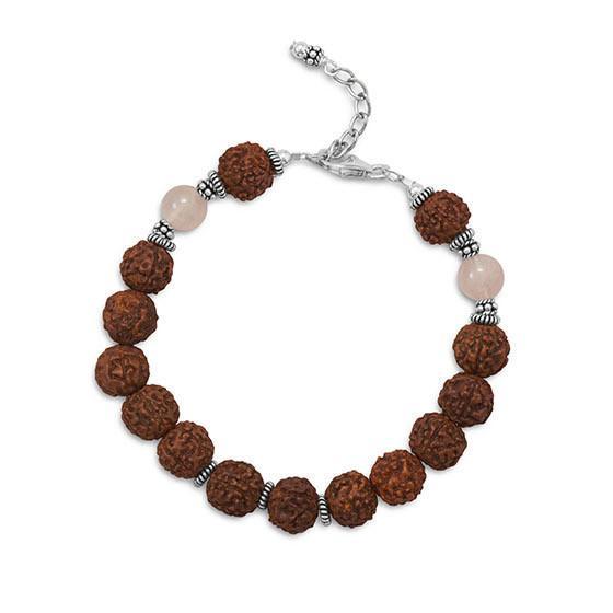 Seed Bead and Rose Quartz Bracelet