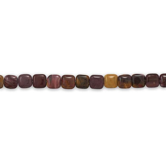 Strand of Mookite Jasper Beads