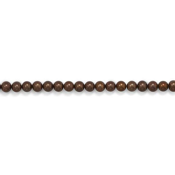 Strand of Chocolate Brown Cultured Freshwater Potato Pearls