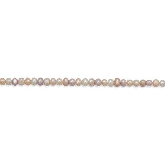 Strand of Multicolor Cultured Freshwater Potato Pearls