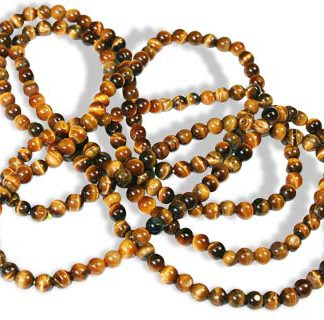 Tiger Eye Simple Strand Necklace