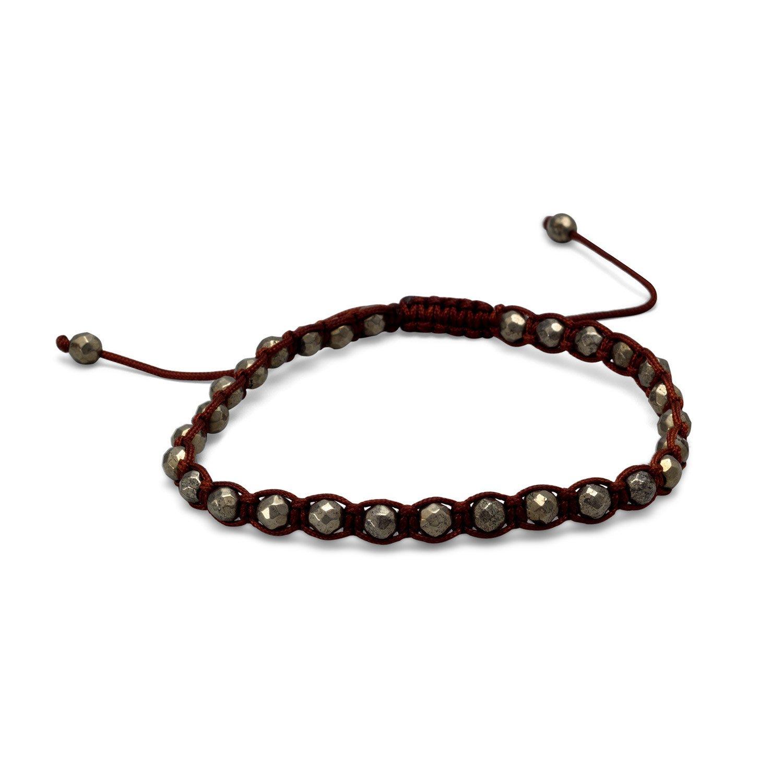 Adjustable Faceted Pyrite Bracelet