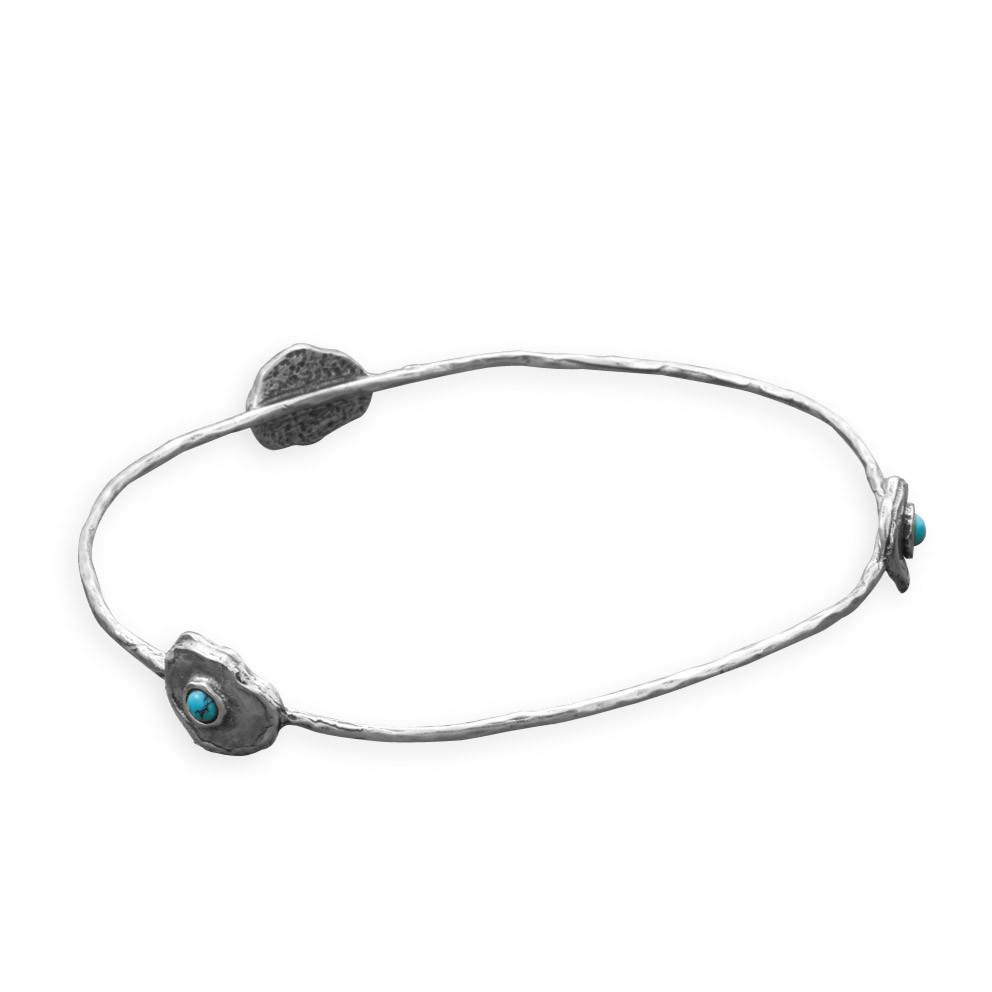 Blue Isle Brass Bangle Bracelet