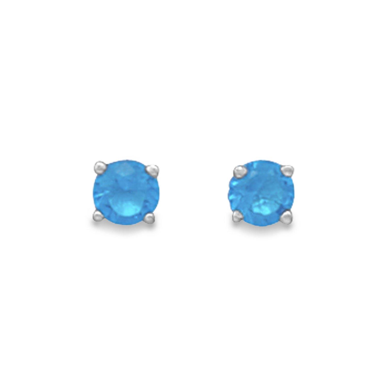 December Birthstone Stud Earrings