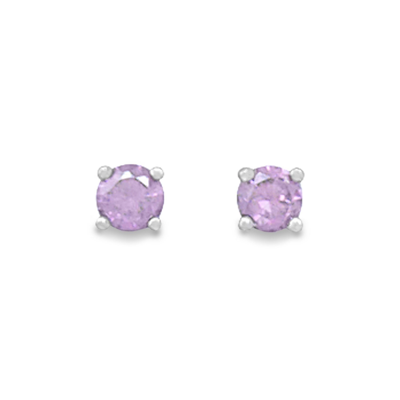 February Birthstone Stud Earrings