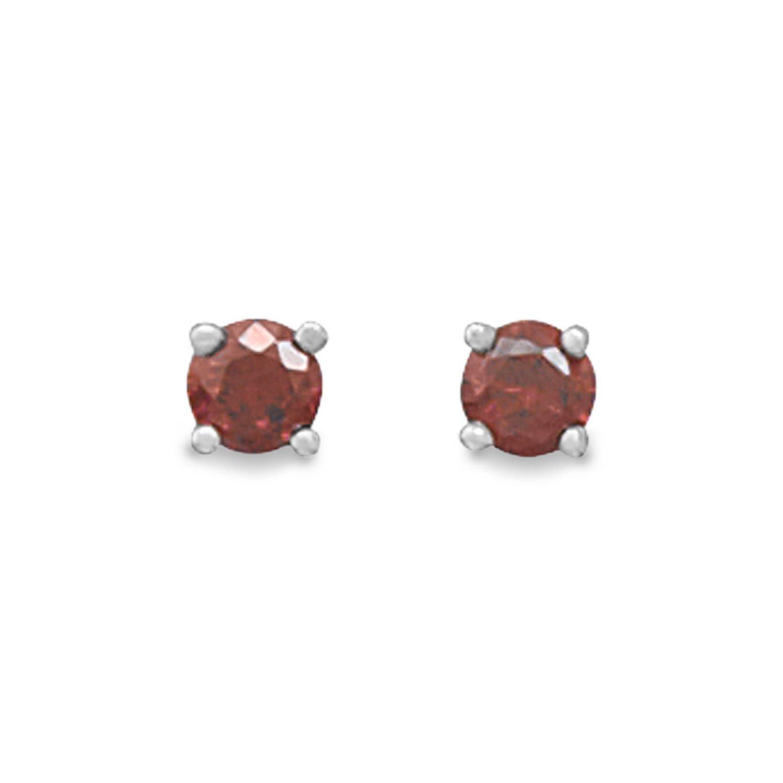 January Birthstone Stud Earrings