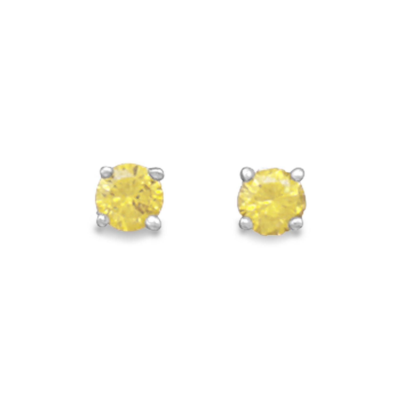 November Birthstone Stud Earrings