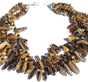 tiger eye cluster necklace