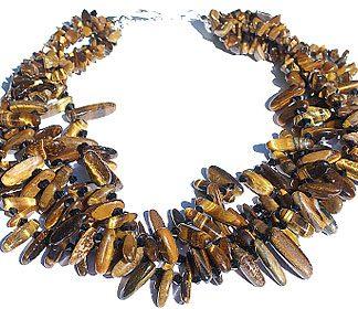 tiger eye cluster necklace