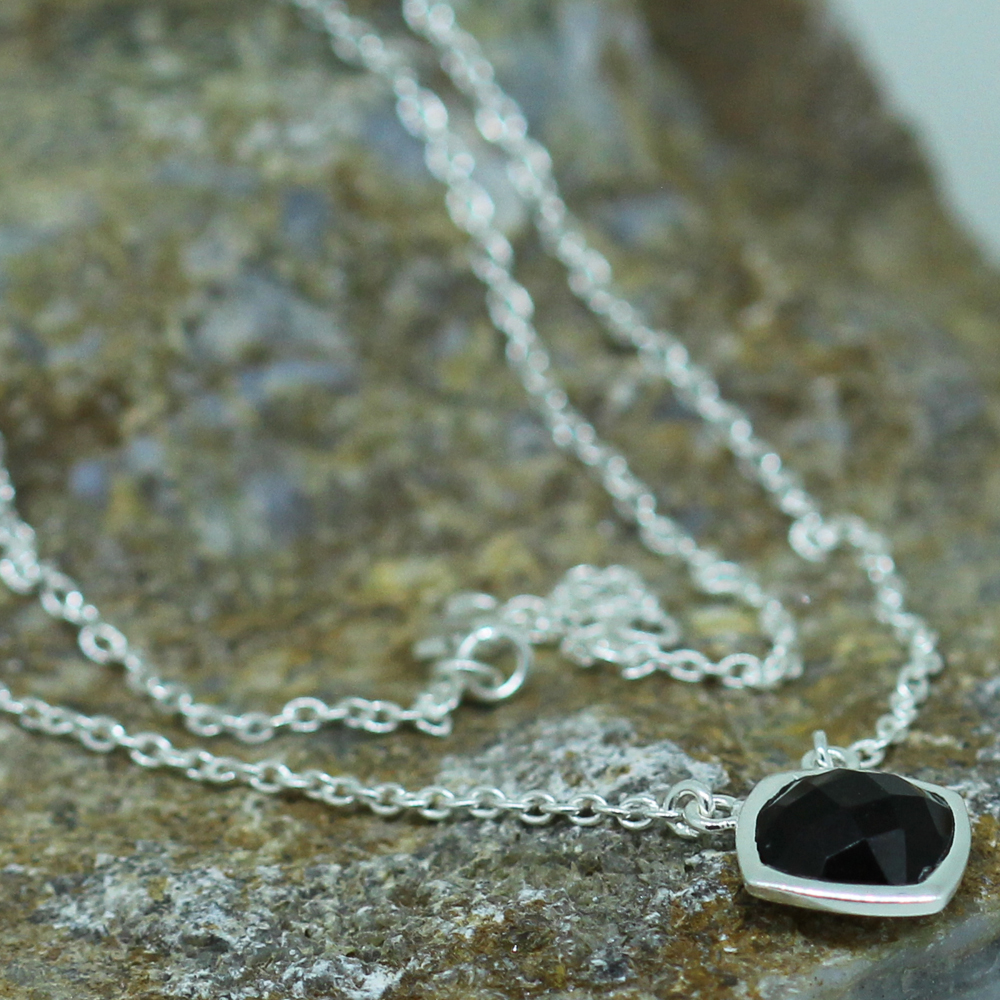 Smoky Quartz Sterling Silver Pendant Necklace