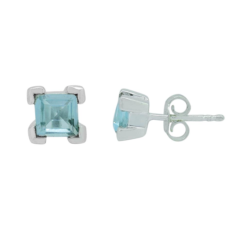 Blue Topaz Studs Earrings